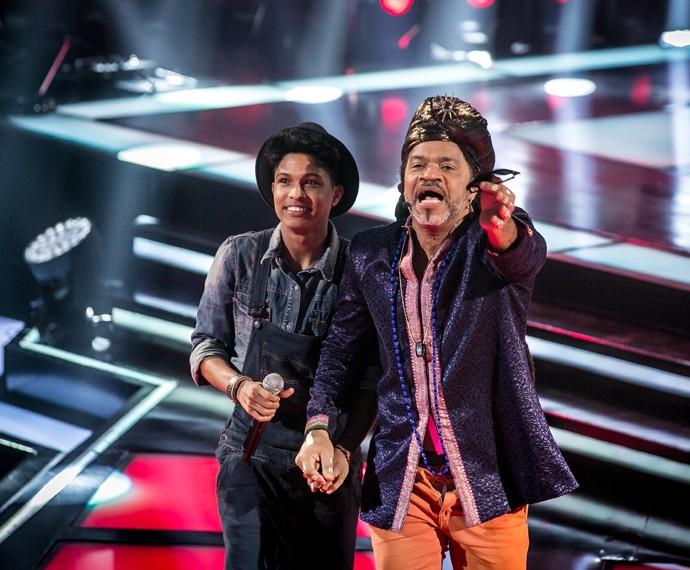 Junior Lord entra para o time Brown no 'The Voice Brasil' (Foto: Isabella Pinheiro/Gshow)
