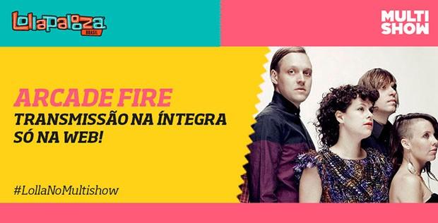 Arcade Fire na ntegra s na web (Foto: Multishow)