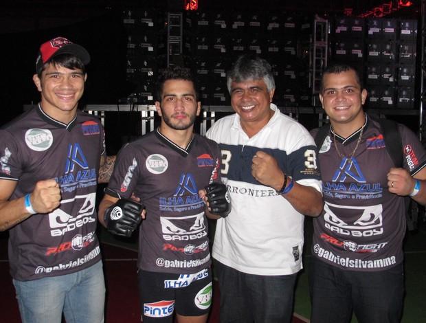 Erick Silva, Gabriel Silva, Seu Nunes e Bruno (Foto: Ivan Raupp)
