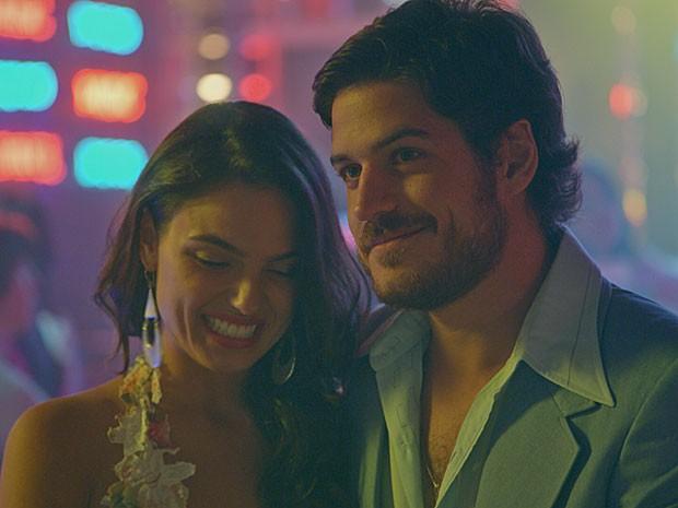 Sandra e Rafael se casaram em Las Vegas (Foto: TV Globo)