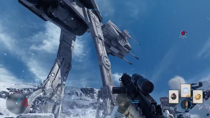 Reencene a batalha de Hoth em Star Wars: Battlefront tanto como os rebeldes quanto com as forças imperiais (Foto: Reprodução/YouTube)