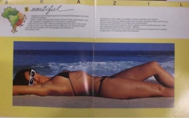 Material de divulgação da Embratur de 1988 (Foto: Reprodução/Kelly Akemi Kajihara)