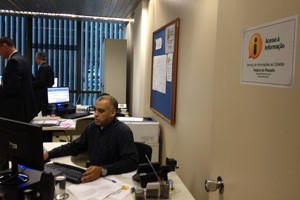 Serviço de Informação ao Cidadão do Palácio do Planalto  (Foto: Priscilla Mendes / G1)