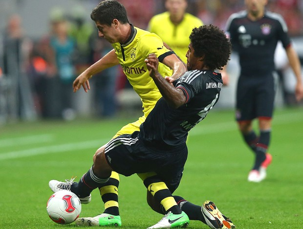 lewandowski e Dante, Bayern de Munique e Borussia Dortmund (Foto: Agência Getty Images)