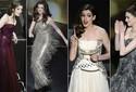 Musa da noite, Hathaway usa oito modelitos; veja as fotos