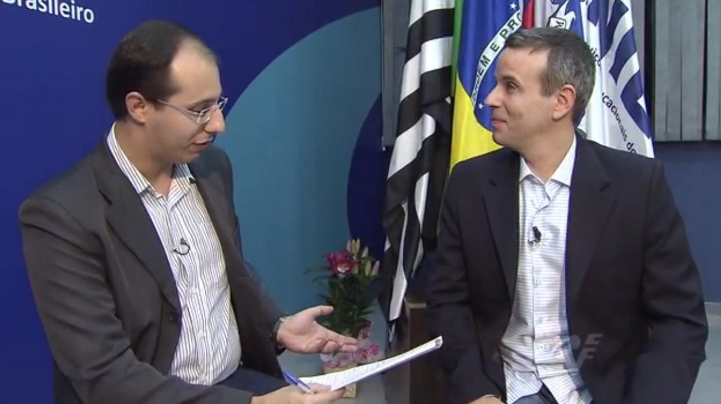 Rodrigo Nardelli e Dudu Braga (Foto: Reprodução/TV Tribuna)