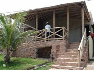Pousada Janaína em cosntrução na Ilha dos Frades. (Foto: Maiana Belo / G1 BA)