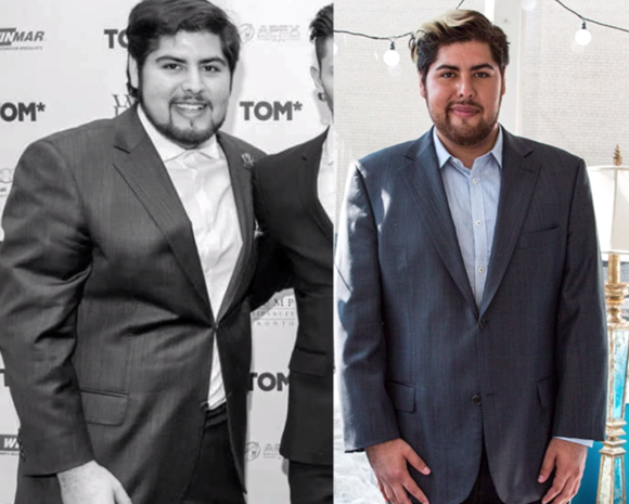 Antes e depois de Roberto Vasquez. Viciado no game, perdeu 11 kg jogando Pokémon Go (Foto: Acervo pessoal)