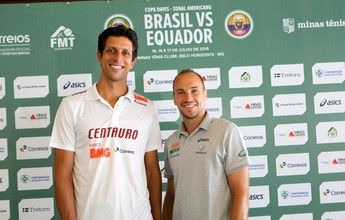 Marcelo Melo e Bruno Soares vibram com duelo da Copa Davis em casa