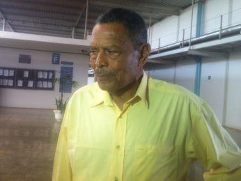 Belarmino está em Cuiabá acompanhando julgamento (Foto: Kelly Martins/ G1)