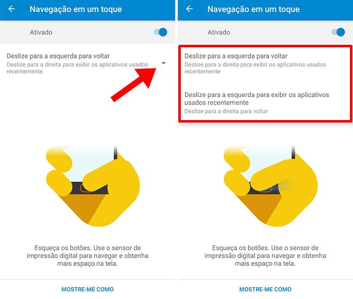 Escolha como quer acessar apps recentes e voltar (Foto: Reprodução/Paulo Alves)