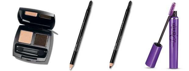 Ultra Color Duo de Sombras – Coleção Chocolate;Lápis para Esfumar Olhos - Nude Luminoso;Lápis para Esfumar Olhos - Marrom Intenso;Super Drama Máscara para Cílios – Preto Intenso (Foto: Divulgação)