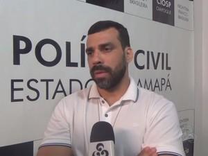 Charles Correa, titular da delegacia de Oiapoque (Foto: Reprodução/Rede Amazônica)