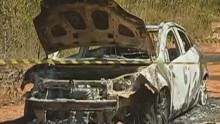 Polícia encontrou dois corpos carbonizados dentro de veículo (Reprodução/ TV liberal)