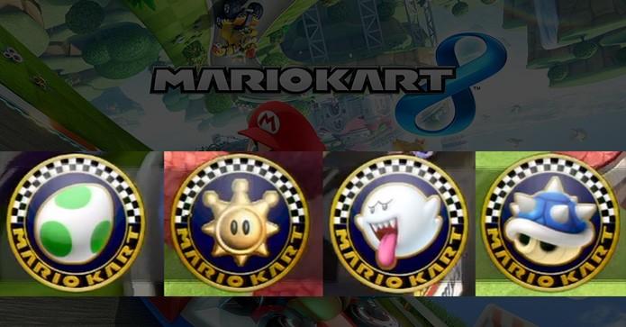 ícones indicam novos DLCs para Mario Kart 8 (Foto: Reprodução/Murilo Molina)