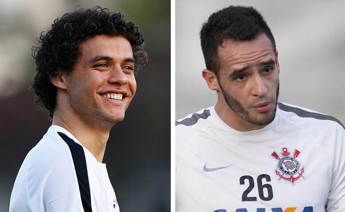 Victor Ferraz e Renato Augusto - SANTOS x CORINTHIANS (Foto: infoesporte)