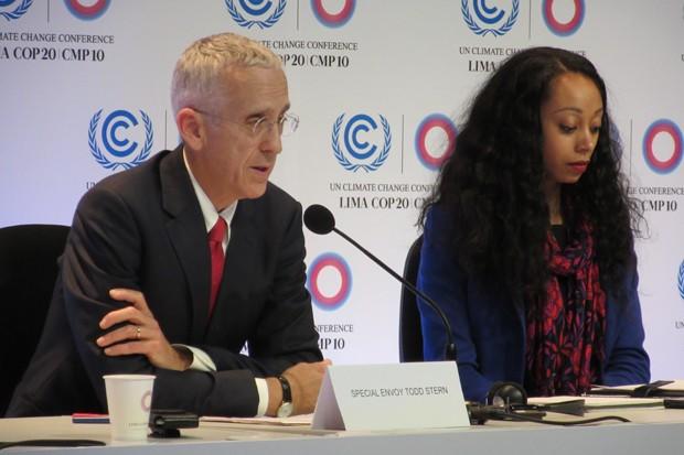 Todd Stern, negociador-chefe da delegação dos Estados Unidos, falou pela primeira vez na COP 20 nesta segunda-feira (Foto: Eduardo Carvalho/G1)