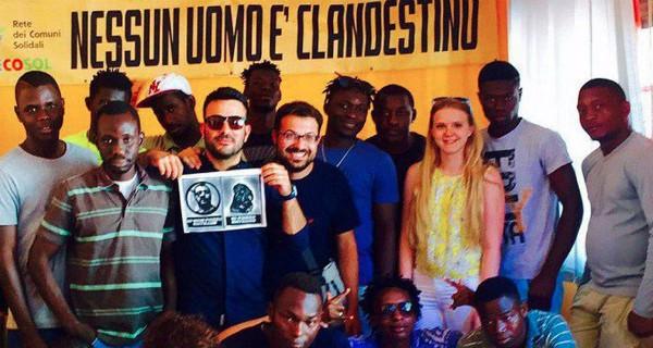 Refugiados que vivem na Itália decidiram doar dinheiro para vítimas de terremoto (Foto: Reprodução/Facebook)