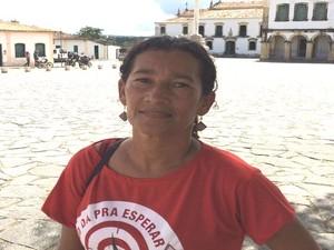 Professora diz que renúncia não será a solução  (Foto: Tássio Andrade/G1)
