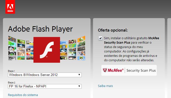 Escolha o sistema operacional e navegador (Foto: Reprodução/Helito Bijora)