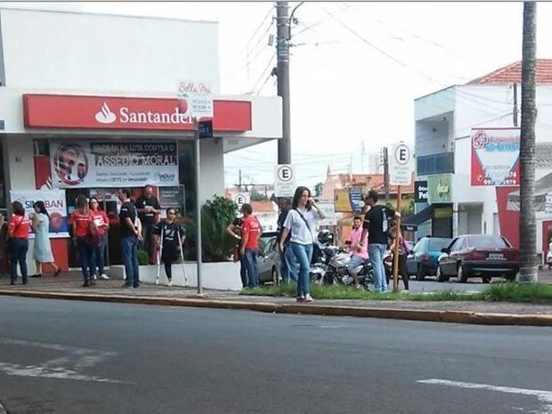 Agência bancária foi fechada pelo sindicato dos bancários (Foto: Divulgação)