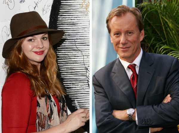 A atriz Amber Tamblyn e o ator James Woods (Foto: Getty Images)