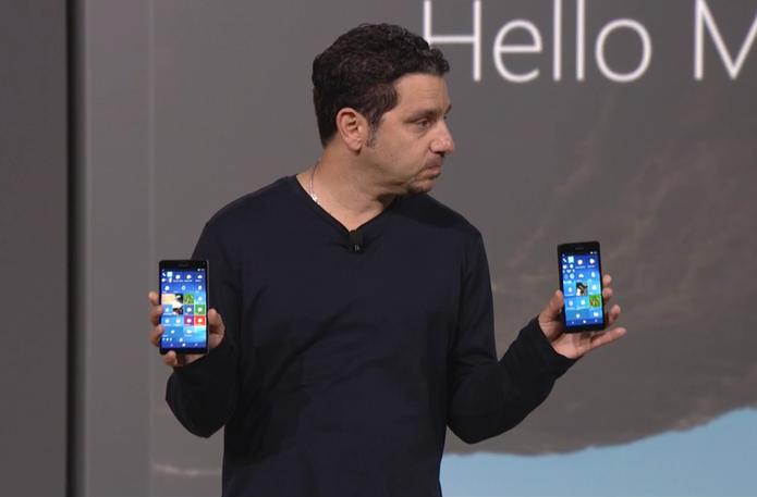 Lumia 950 e 950 XL foram apresentados pela Microsoft nesta terça, mas ainda não tem previsão para chegar ao Brasil (Foto: Reprodução/Microsoft)