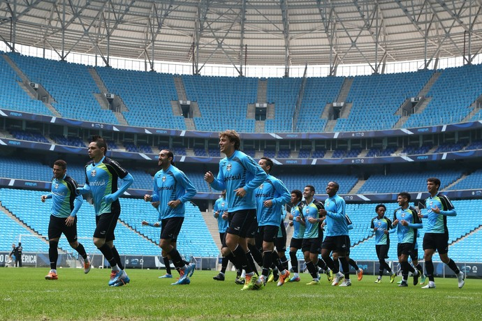 grêmio treino arena (Foto: Richard Ducker/Grêmio FBPA)