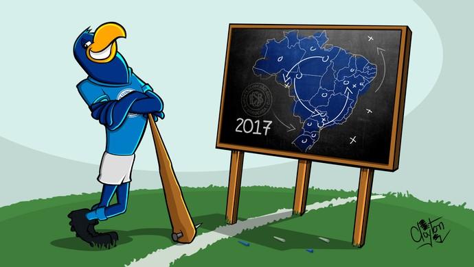 Charge a estratégia do São Bento para pintar o Brasil de azul (Foto: Charge / Clayton Esteves)