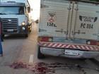 Idoso tem cabeça esmagada por caminhão ao sair de ônibus em RO