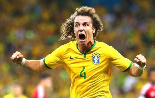 David Luiz gol jogo Brasil x Colômbia (Foto: Getty Images)
