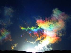 Arco-íris de fogo em Itanhaém, SP (Foto: Meire Ruiz Santos/VC no G1)