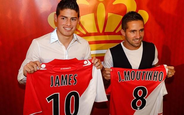 James Rodríguez e João Moutinho monaco (Foto: Site Oficial Monaco)