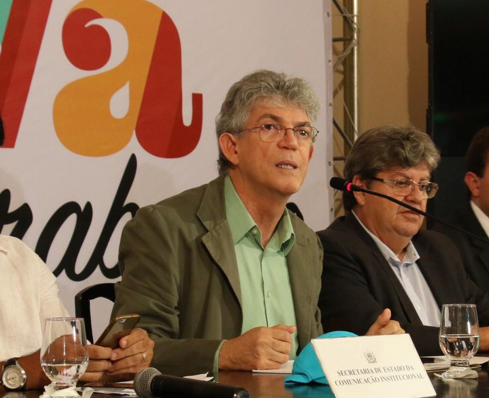 Governador da Paraíba, Ricardo Coutinho (PSB), teve pedido de cassação julgado pelo TRE-PB nesta segunda-feira (17) (Foto: Francisco França/Secom-PB)