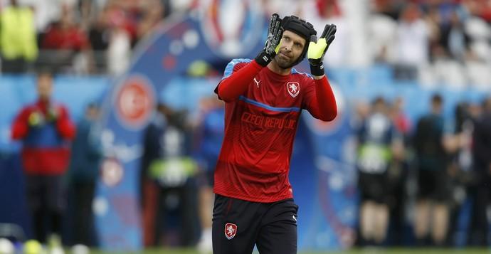 Petr Cech República Tcheca x Turquia (Foto: Reuters)