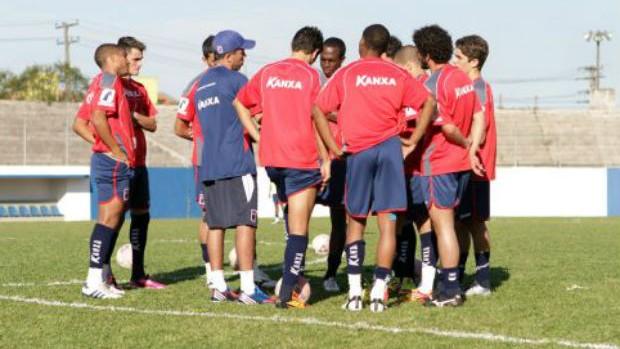 Treino do Paraná Clube com Ricardinho (Foto: Divulgação/Site oficial do Paraná Clube)