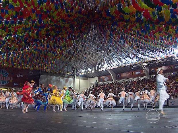 Quadrilha Baião de Dois, de Olinda (Foto: Reprodução / TV Globo)