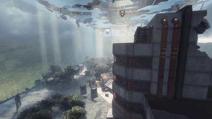 Titanfall 2: aproveite a verticalidade do mapa (Foto: Reprodução / Thomas Schulze)
