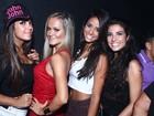 Bailarinas do 'Domingão do Faustão' curtem boate carioca