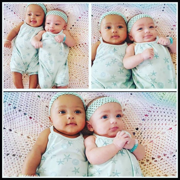 Quanto amor! As gêmeas estão com nove meses (Foto: Reprodução Instagram)