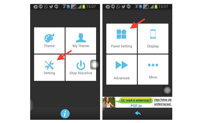 Acessando o painel de configuração do Assistive Touch para Android (Foto: Reprodução/Marvin Costa)