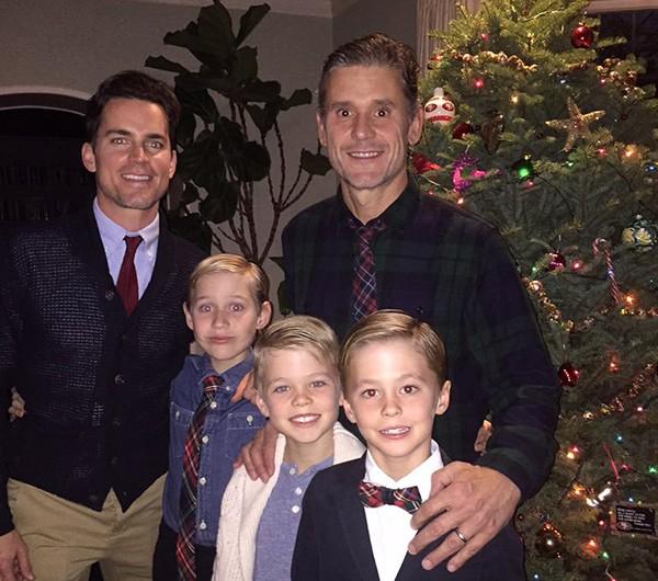 Matt Bomer e família (Foto: Twitter)