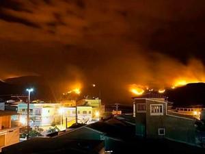 Incêndio em Ibicoara, Chapada Diamantina (Foto: Diego Borges/Arquivo pessoal)