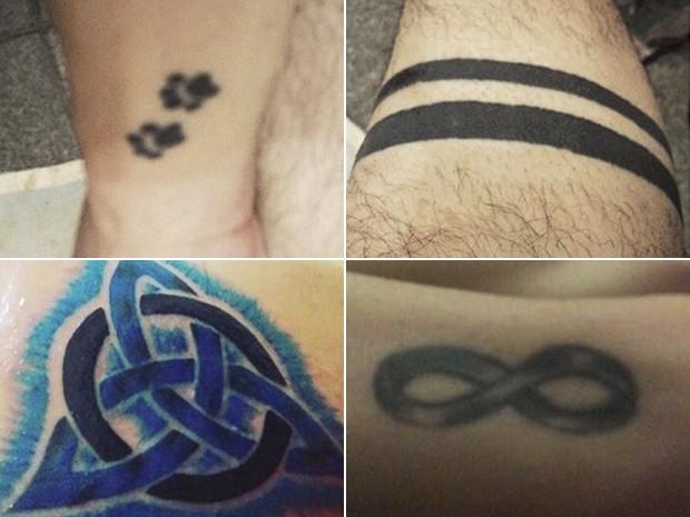 Sonho de fazer tatuagem estimulou Guilherme a emagrecer: essas são algumas das tatuagens que ele fez depois de atingir sua meta de peso (Foto: Guilherme Miranda/Arquivo pessoal)