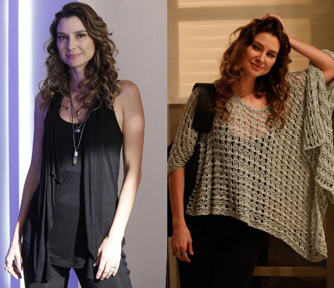Natasha e seu guarda-roupa básico cool (Foto: TV Globo/Renato Rocha Miranda e Raphael Dias/Gshow)