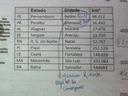 Apostila distribuda em escolas do Rio erra capitais do NE (Isabela Marinho/ G1)