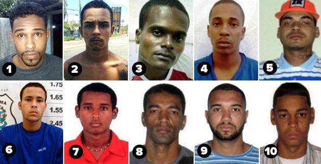 622e4d4fb Os dez criminosos mais procurados da Serra (Foto  Divulgação Polícia ...
