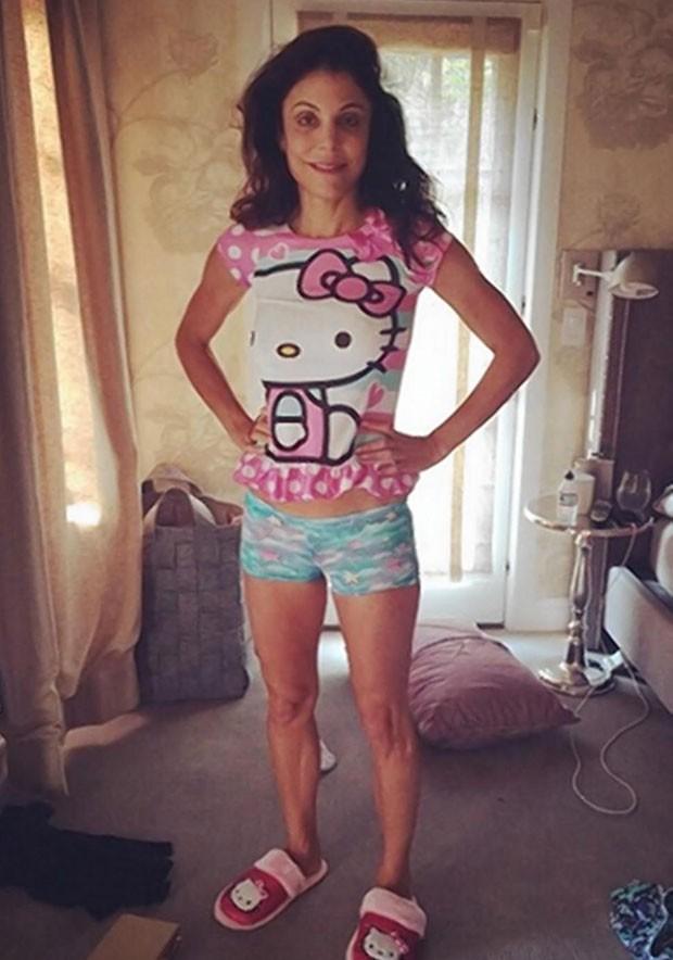 Bethenny Frankel havia postado foto em julho usando pijama da filha (Foto: Reprodução/ Instagram/Bethenny Frankel )