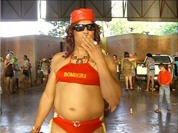 Tradição do bloco das Piranhas já dura 26 anos em Xambioá (Foto: Reprodução/TV Anhanguera)