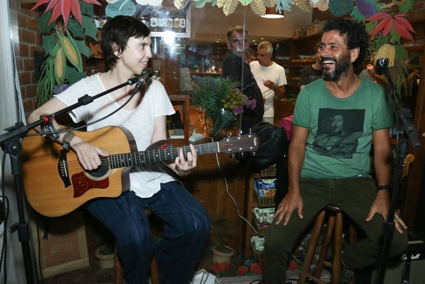 Adriana Calcanhoto e Marcos Palmeira (Foto: Roberto Filho/Brazil News)
